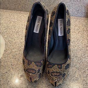 Steve Madden leopard rhinestone shoes
